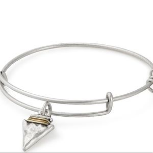 Alex and Ani Arrowhead Silver Bangle